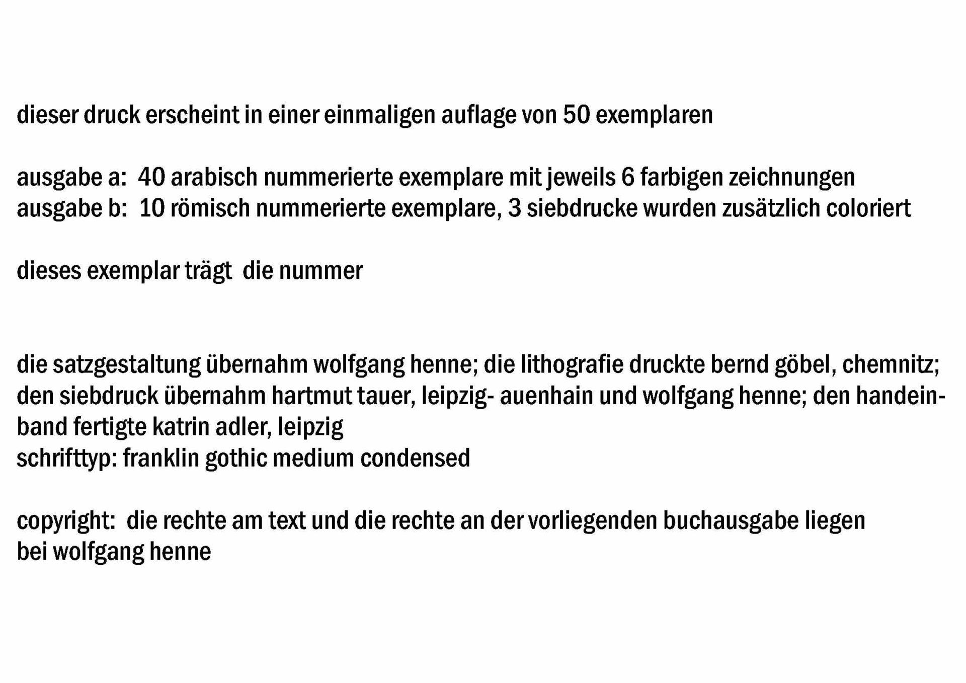 """Einzelblatt aus der Mappe """"Aufgebrochene Verwehungen"""""""