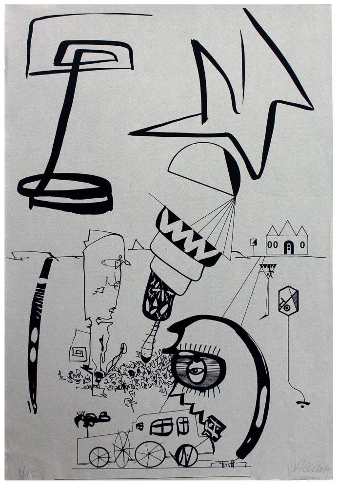 Einzelblatt aus der Mappe Mensch-Stadt Stadt-Mensch
